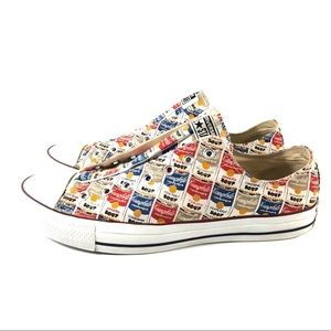 MENS CONVERSE ANDY WARHOL CAMBELLS SOUP SIZE 13